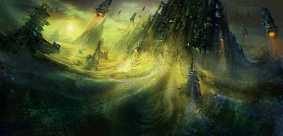 Utherworlds Monolith Poster by Philip Straub