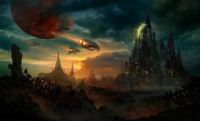 Utherworlds Sosheskaz Falls Poster by Philip Straub