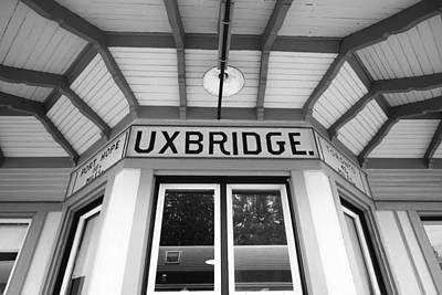 Uxbridge Station Poster by Valentino Visentini