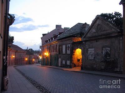 Uzupis Street. Old Vilnius. Lithuania. Poster