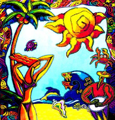 Vacation On A Hot Sea Resort Poster by Leon Zernitsky
