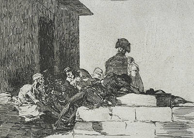 Vain Laments From The Series The Disasters Of War Poster by Francisco Goya