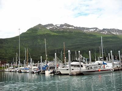 Poster featuring the photograph Valdez Alaska Marina by Adam Owen