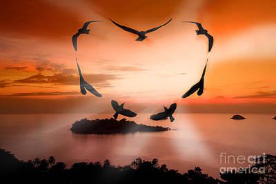 Valentine Bird Poster