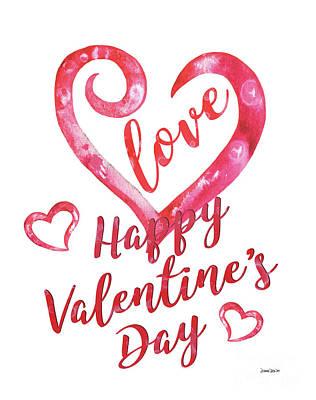 Valentine Poster by Debbie DeWitt