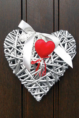 Poster featuring the photograph Valentine Heart by Juergen Weiss