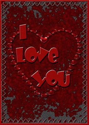 Poster featuring the digital art Valentine Love by Michelle Audas