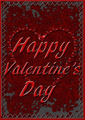 Poster featuring the digital art Valentine3 by Michelle Audas