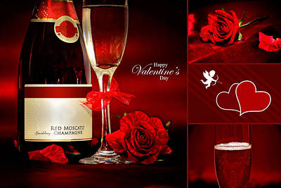 Valentine's Collage Photo Poster