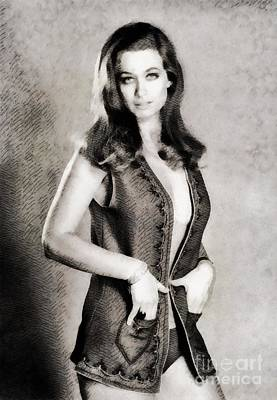 Valerie Leon, Vintage Actress By John Springfield Poster