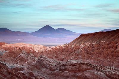 Valle De La Muerte At Sunset Atacama Desert Chile Poster by James Brunker