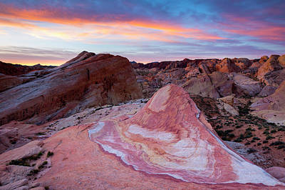 Poster featuring the photograph Valley Of Fire Dawn  by Patrick Downey