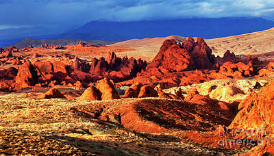 Valley Of Fire Evening Light Poster by Bob Christopher