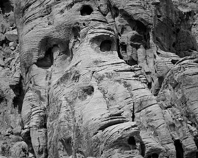 Valley Of Fire I Bw Poster by David Gordon