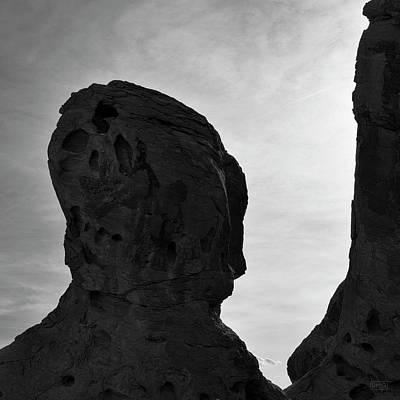 Valley Of Fire IIi Sq Bw Poster by David Gordon