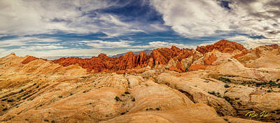 Poster featuring the photograph Valley Of Fire Panorama by Rikk Flohr