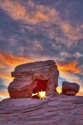 Valley Of Fire Rock Formations Poster by Susan Candelario