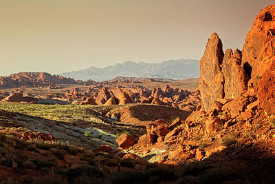 Valley Of Fire Xxiii Poster by Ricky Barnard