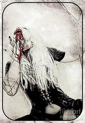 Vampire Queen, Digital Art By Mary Bassett Poster by Mary Bassett