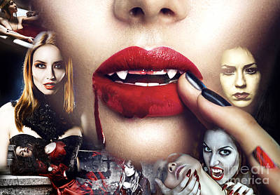 Vampyre Brides Poster by John Rizzuto