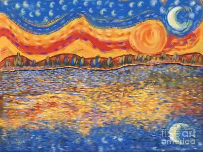 Van Gogh Skies Poster by Sydne Archambault