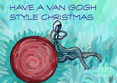 Van Gogh Style Xmas  Poster