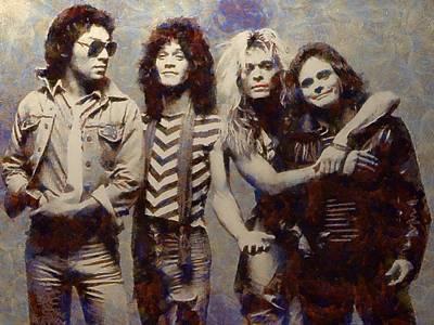 Van Halens Classic Early Lineup Poster
