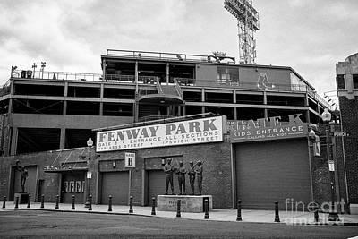 van ness street and ipswich street entrances to Fenway park baseball stadium Boston US Poster