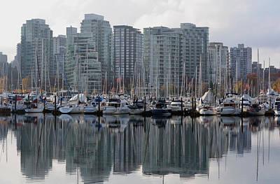 Vancouver Bc - Boats And Condos Poster