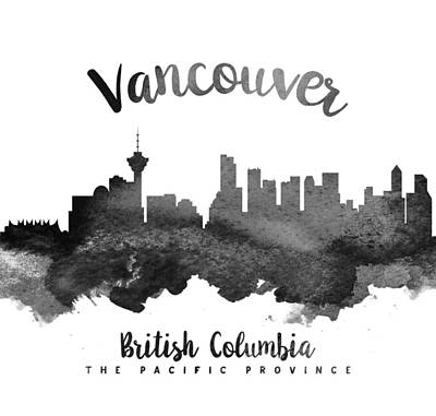 Vancouver British Columbia Skyline 18 Poster