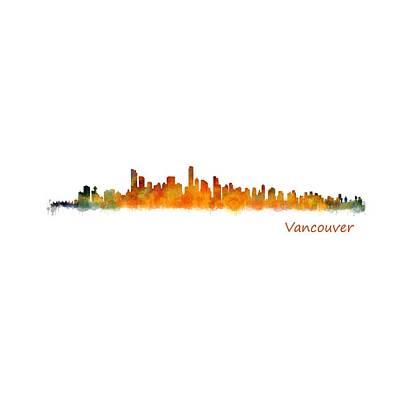 Vancouver Canada City Skyline Hq V01 Poster