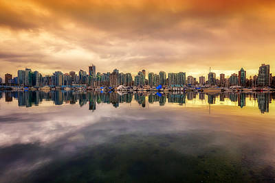 Poster featuring the photograph Vancouver Reflections by Eti Reid