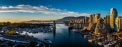 Vancouver Sunset Poster by Ian Stotesbury