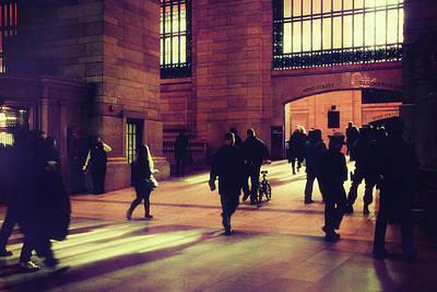 Poster featuring the photograph Grand Central Rush by Jessica Jenney