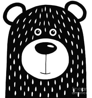 Vanilla Bear Poster by Lucia Stewart