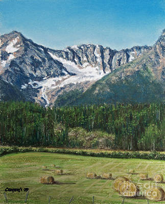 Poster featuring the painting Vanishing Glacier by Stanza Widen