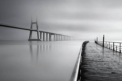 Poster featuring the photograph Vanishing by Jorge Maia