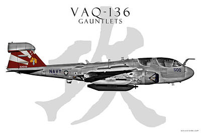 Vaq-136 Prowler Poster by Clay Greunke