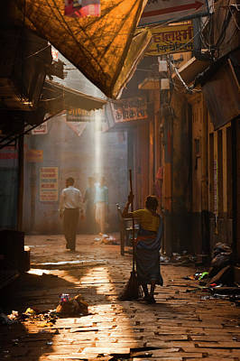 Varanasi Morning Poster