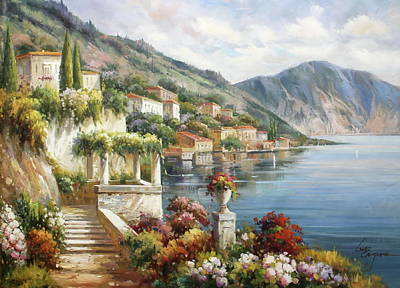 Varenna, Lago Di Como Poster by Lucio Campana