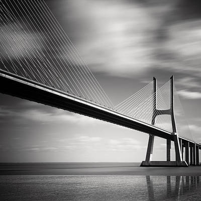 Vasco Da Gama Bridge II Poster by Nina Papiorek