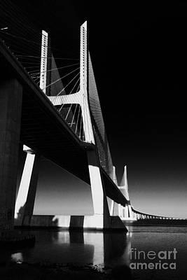 Vasco Da Gama Bridge Lisbon 4 Poster by Rudi Prott