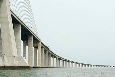 Vasco Da Gama Bridge Poster by Moura Pereira