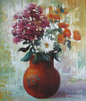 Vase Of Flowers Poster by Elena Oleniuc