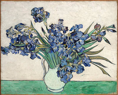 Poster featuring the painting Vase With Irises by Van Gogh