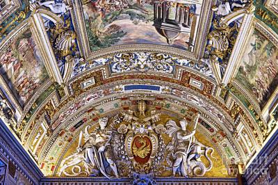 Vatican Ceiling Fresco Poster