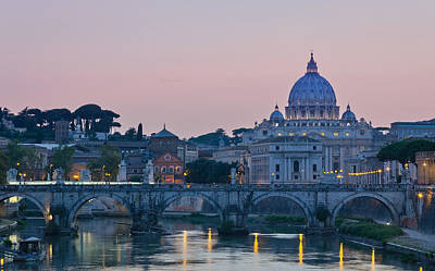 Vatican City At Sunset Poster