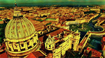 Vatican City Rome Italy Poster