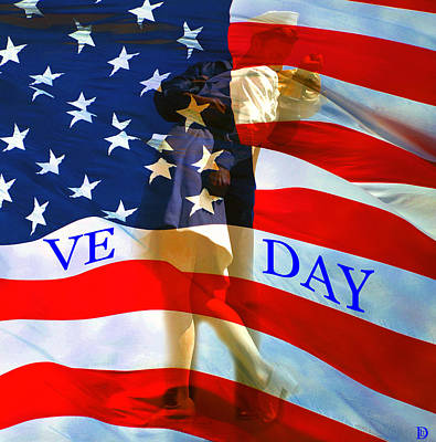 Ve Day Poster by David Lee Thompson