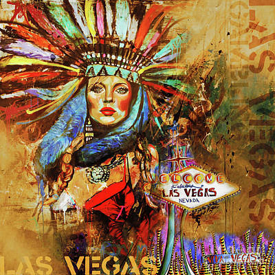 Vegas City  Poster by Gull G